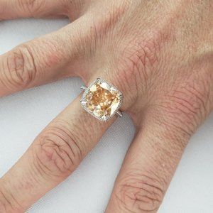Nataliya V Collister 925 Citrine Ring Size 8